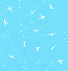 Abstract background with airplane lines
