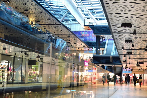 Leinwanddruck Bild shopping mall