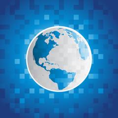 Pixel Planet Earth