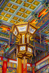 Lamp in Chinese temple