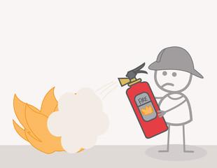 Fire Fighter  Illustration
