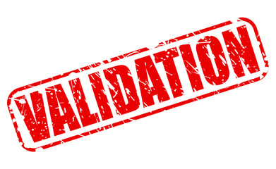 Validation red stamp text