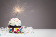 Birthday Sparkler Cupcake - 78135552