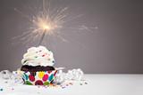 Birthday Sparkler Cupcake mouse pad