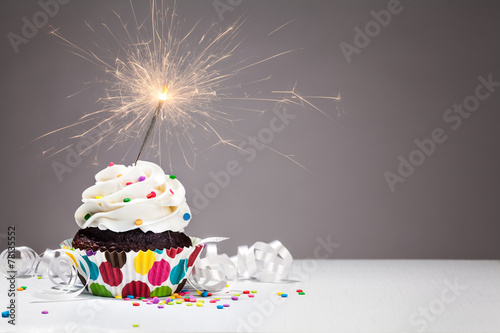 Aluminium Dessert Birthday Sparkler Cupcake