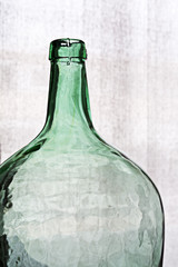Old Crystal bottle againt clear background