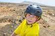 boy riding his mountainbike offroads