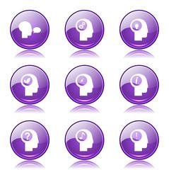 Think Web Internet Violet Vector Button Icon Design Set