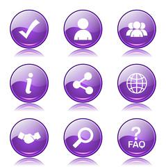 Web Internet Violet Vector Button Icon Design Set 2