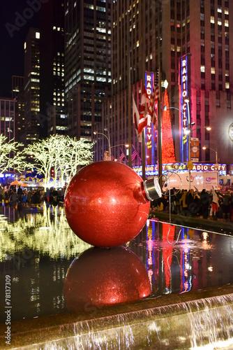 Leinwanddruck Bild Christmas Decorations, New York