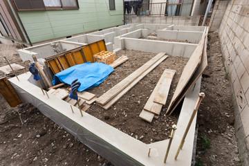 住宅建設 完成した布基礎