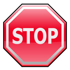 Stop traffic sign or symbol