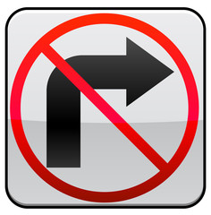No Right Turn traffic sign image