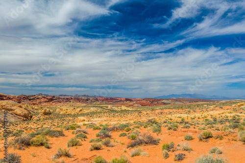 Plexiglas Bergen Stone desert
