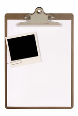 Clipboard with polaroid
