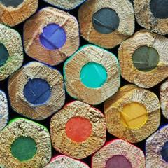 Texture of color pencils