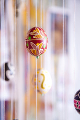 Easter egg painted in folk style