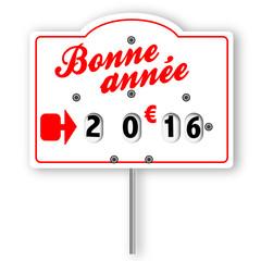 Bonne année 2016 (étiquette boucherie)