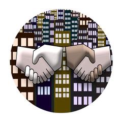 Shake Hand Illustration
