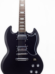 Electric guitar on white background, SG, Isolate