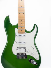 Electric guitar on white background, Strat, Isolate