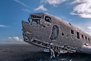Airplane-wreck, Solheimasandur, Iceland.