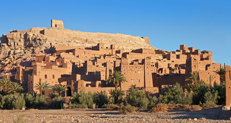 Ksar of Ait-Ben-Haddou in  the morning, Morocco.