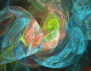 Beautiful iridescent plasmatic background
