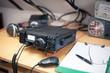 Amateur radio station: closeup of an a radio transciever - 78144515