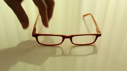 Man hand pick up glasses