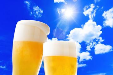 ビール-青空