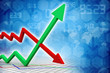 inflation and deflation graph - 78145962