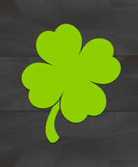 Four-leaf clover sticker