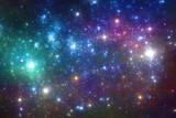 Fototapety blue and purple stars background