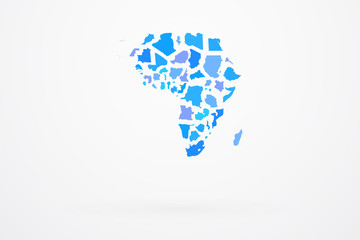 Africa Continent Map With Country Border