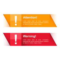Attention and Warning Banners