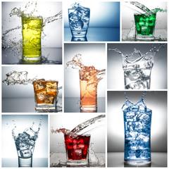 splash in bicchiere collage