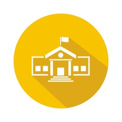 Iconos colegio amarillo botón sombra