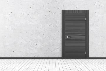 Empty Room 3D Interior with Closed Door