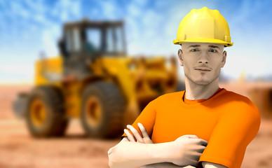 Lavoratore in cantiere