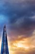 London skyscraper against dusk lit sky