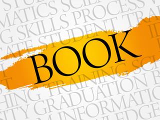 BOOK word cloud, education business concept