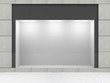 Modern Empty Store Front with Big Window - 78149345