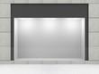 Leinwanddruck Bild - Modern Empty Store Front with Big Window
