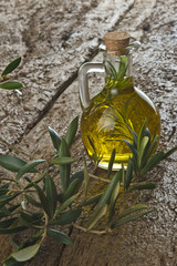 Olive oil flavored with rosemary