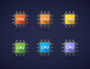 Colored CPU icon set