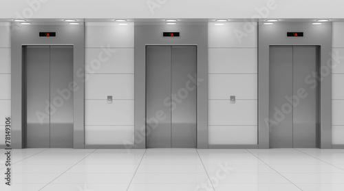 Modern Elevator Hall Interior - 78149306