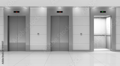 Leinwandbild Motiv Modern Elevator Hall Interior
