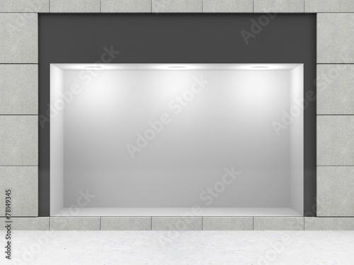 Leinwanddruck Bild Modern Empty Store Front with Big Window