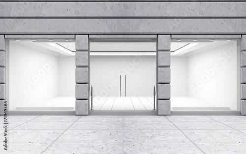 Leinwandbild Motiv Modern Empty Store Front with Big Windows